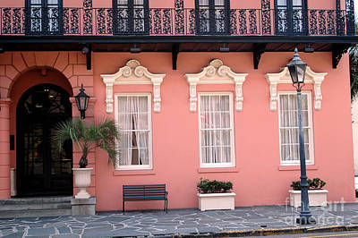 Of Peaches Photograph - Charleston South Carolina - The Mills House - Art Deco Architecture by Kathy Fornal