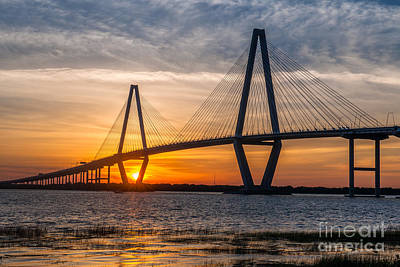 Charleston Sun Setting  Art Print