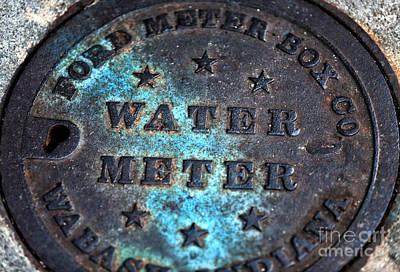 Photograph - Charleston Water Meter by John Rizzuto