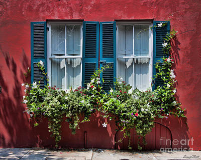 Photograph - Charleston Window by Susan Cliett