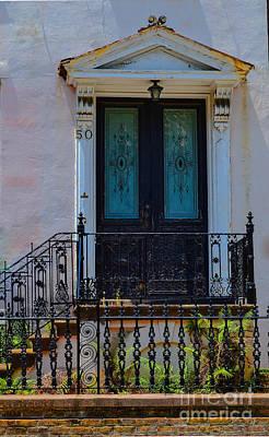 Charleston Wood Door Etched Glass Art Print
