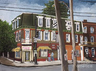 Charlevoix And Mullins Pointe St. Charles Art Print by Reb Frost