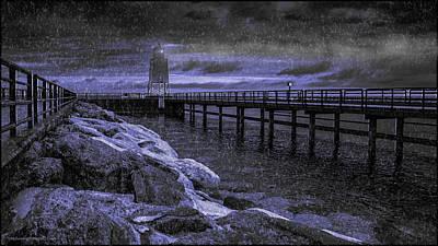 Life Gaurd Photograph - Charlevoix South Pier Light House by LeeAnn McLaneGoetz McLaneGoetzStudioLLCcom