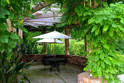 Indiana Photograph - Charley Gardens Patio  by Amy Lucid