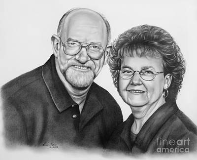 Drawing - Charlie And Helen by Lena Auxier