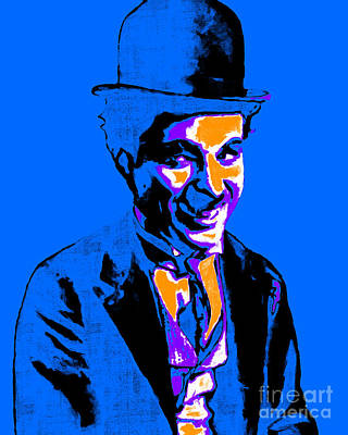 Charlie Chaplin 20130212m145 Art Print by Wingsdomain Art and Photography