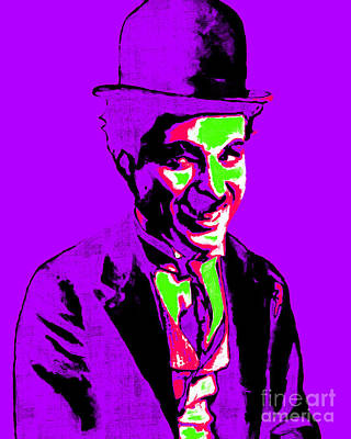 Charlie Chaplin 20130212m78 Art Print by Wingsdomain Art and Photography