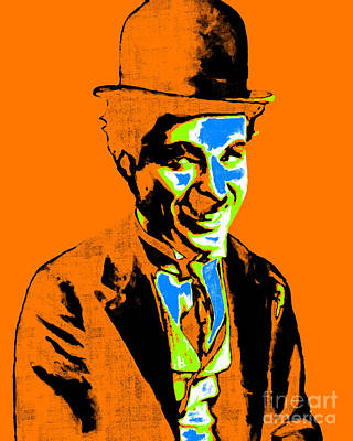 Charlie Chaplin 20130212p28 Art Print by Wingsdomain Art and Photography