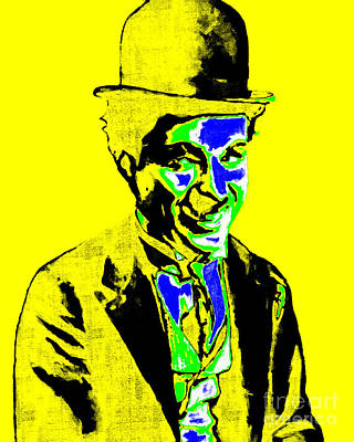 Charlie Chaplin 20130212p60 Art Print by Wingsdomain Art and Photography