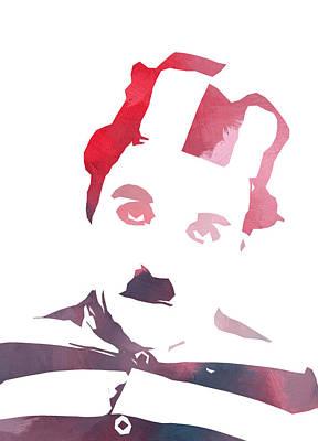 British Era Painting - Charlie Chaplin Color by Steve K