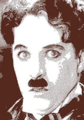 Drawing - Charlie Chaplin - Cross Hatching by Samuel Majcen