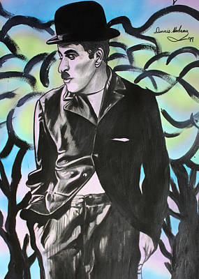 Famous People Mixed Media - Charlie Chaplin by Dennis Nadeau
