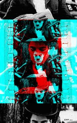 Fractal Digital Art - Charlie Chaplin by Elizabeth McTaggart