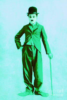 Charlie Chaplin The Tramp 20130216m150 Art Print by Wingsdomain Art and Photography