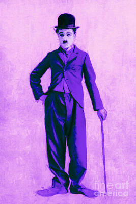 Charlie Chaplin The Tramp 20130216m40 Art Print by Wingsdomain Art and Photography