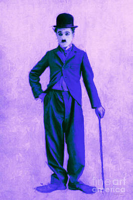 Charlie Chaplin The Tramp 20130216m60 Art Print by Wingsdomain Art and Photography