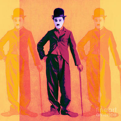 Charlie Chaplin The Tramp Three 20130216 Art Print by Wingsdomain Art and Photography