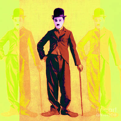 Charlie Chaplin The Tramp Three 20130216p30 Art Print by Wingsdomain Art and Photography