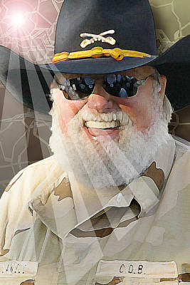 Art Print featuring the digital art Charlie Daniels by Don Olea