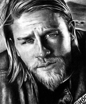 Jackson Drawing - Charlie Hunnam As Jax Teller by Rick Fortson