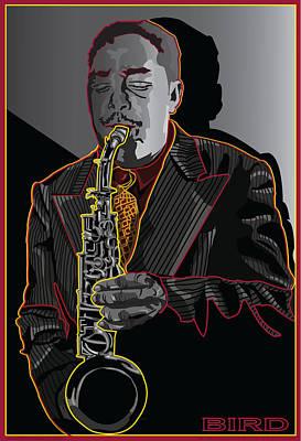 Charlie Parker Jazz  Saxophone Legend Art Print by Larry Butterworth