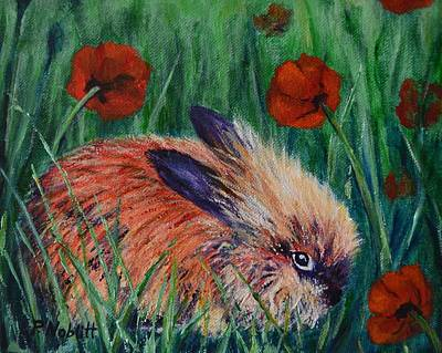 Wall Art - Painting - Charlie The Lion-head Rabbit by Paula Noblitt