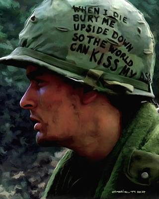 Digital Art - Charlie Sheen #2 In Platoon by Gabriel T Toro