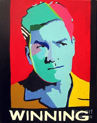 Red White And Blue Mixed Media - Charlie Sheen Winning by Venus