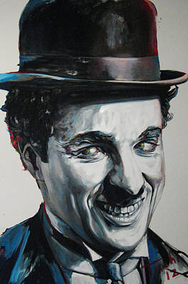 Character Portraits Painting - Charlie by Tachi Pintor