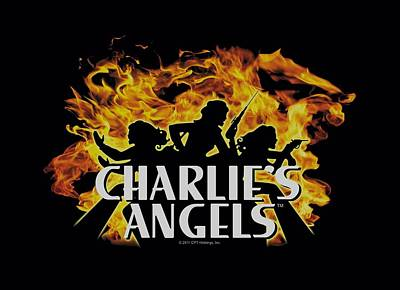Angel Digital Art - Charlie's Angels - Fire by Brand A