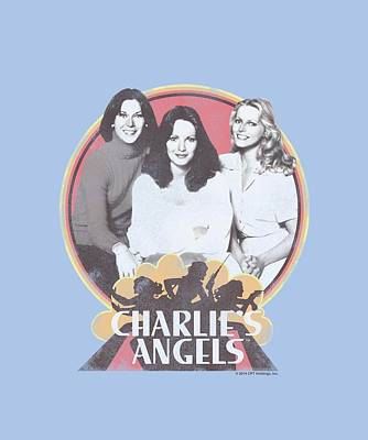 Charlies Angels Digital Art - Charlie's Angels - Retro Group by Brand A