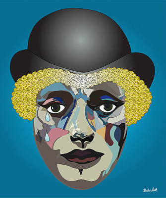 Charles Smith Painting - Charlie's Clown  by Charles Smith