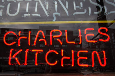 Charlies Kitchen Art Print