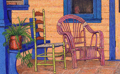 Digital Art - Charlies Porch by Sandra Selle Rodriguez