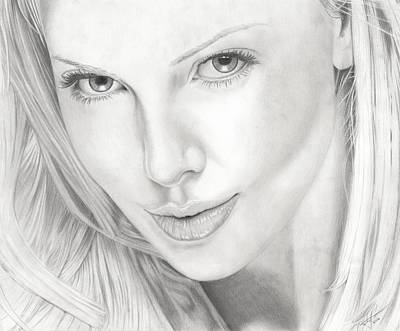 Charlize Wall Art - Drawing - Charlize by Christian Conner