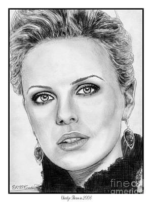 Charlize Wall Art - Drawing - Charlize Theron In 2008 by J McCombie