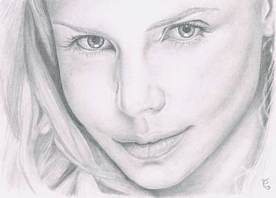 Charlize Wall Art - Drawing - Charlize Theron by Ryan Jacobson