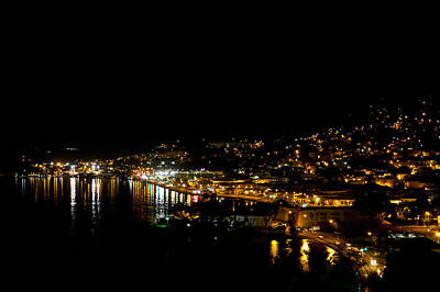 Island Photograph - Charlotte Amalie At Night by Jared Shomo