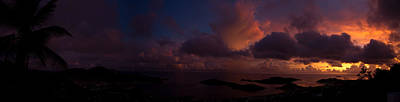 Sunset Photograph - Charlotte Amalie Dusk Panorama by Jared Shomo