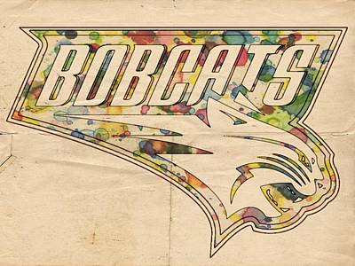 Bobcats Painting - Charlotte Bobcats Vintage Poster by Florian Rodarte