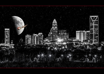 Charlotte Nc Photograph - Charlotte Christmas Card by Chris Austin