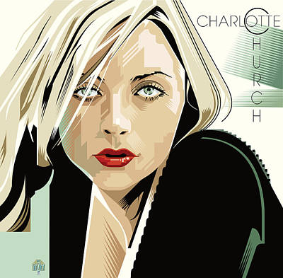 Jazz Royalty Free Images - Charlotte Church Portrait Royalty-Free Image by Garth Glazier