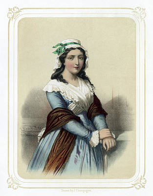 Champagne Painting - Charlotte Corday (1768-1793) by Granger