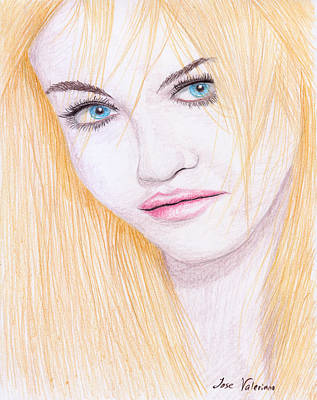 Drawing - Charlotte Free by M Valeriano
