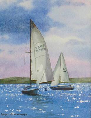Charlotte Harbor Sail Art Print by Karol Wyckoff