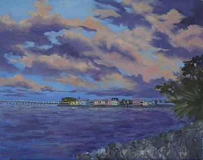 Punta Gorda Painting - Charlotte Harbor Sunset by Kathy Przepadlo
