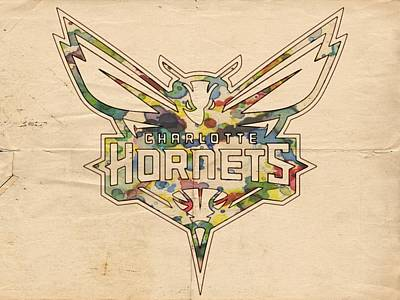 Painting - Charlotte Hornets Logo Art by Florian Rodarte
