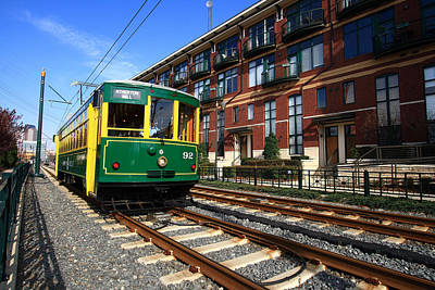 Photograph - Charlotte Light Rail Trolley by Joseph C Hinson Photography
