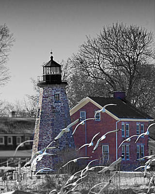 The Charlotte Genesee Lighthouse Art Print by Richard Engelbrecht