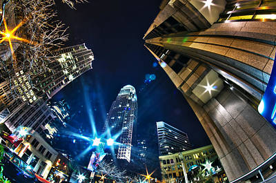 Charlotte Nc Usa - Nightlife Around Charlotte Art Print